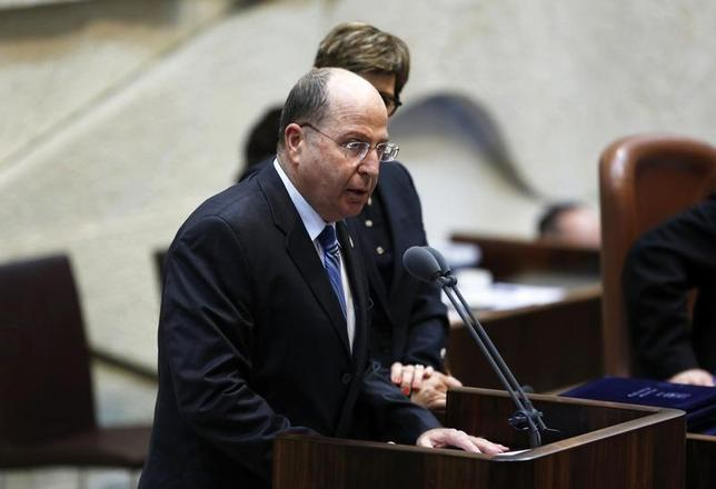 Israel's Defence Minister Moshe Yaalon speaks during a swearing-in ceremony, at the Knesset, Israeli Parliament, in Jerusalem March 18, 2013. REUTERS/Baz Ratner