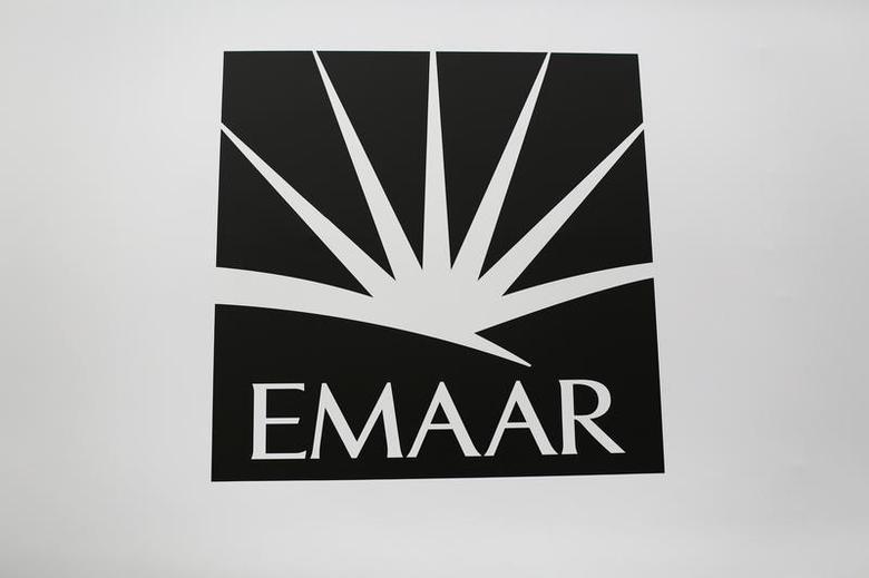A logo of Emaar is seen near the Dubai Mall March 16, 2014. REUTERS/Ahmed Jadallah