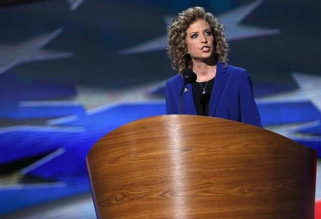 U.S. Rep. Debbie Wasserman Schultz (D-FL) addresses delegates during the final session of the Democratic National Convention in Charlotte, North Carolina September 6, 2012. REUTERS/Eric Thayer