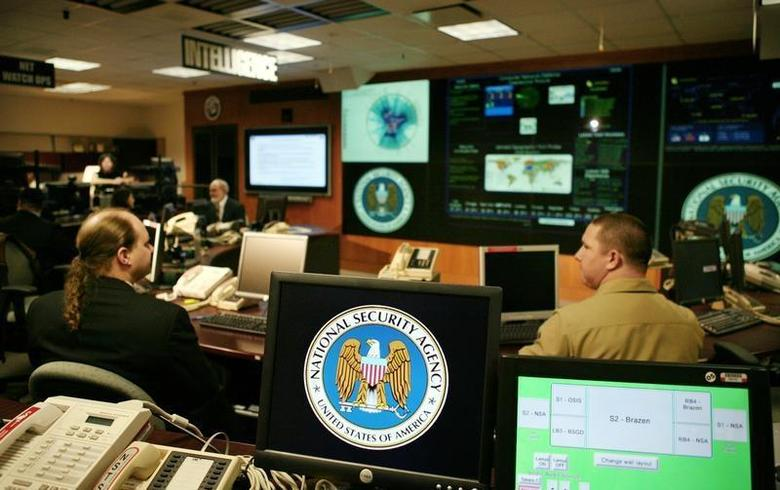 The National Security Agency (NSA) logo is shown on a computer screen inside the Threat Operations Center at the NSA in Fort Meade, Maryland, January 25, 2006 FILE PHOTO. REUTERS/Jason Reed