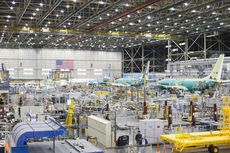 The interior of the Boeing 737 assembly plant is pictured in Renton, Washington February 4, 2014. REUTERS/David Ryder