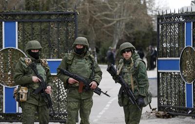 Russian forces seize two Ukrainian bases in Crimea