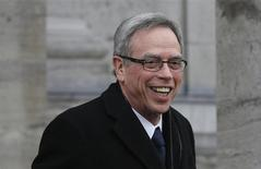 Joe Oliver arrives to be sworn in as Canada's new Finance Minister at Rideau Hall in Ottawa March 19, 2014. REUTERS/Chris Wattie
