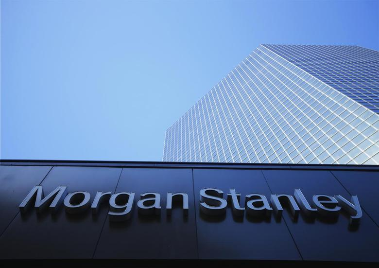 The corporate logo for financial firm Morgan Stanley is pictured on a building in San Diego, California September 24, 2013. REUTERS/Mike Blake