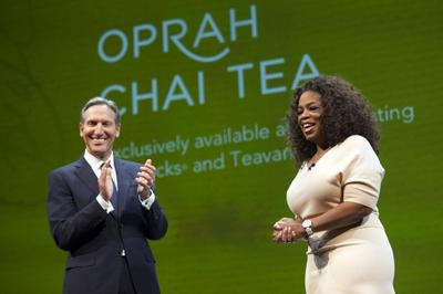 Oprah gives Starbucks tea push a celebrity shot with...