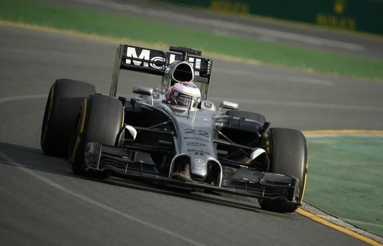McLaren Formula One driver Jenson Button of Britain takes a corner during the Australian F1 Grand Prix at the Albert Park circuit in Melbourne March 16, 2014. REUTERS/Jason Reed