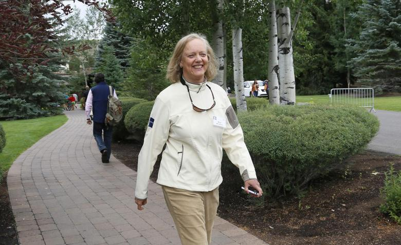 Hewlett-Packard CEO Meg Whitman walks at the annual Allen and Co. conference in Sun Valley, Idaho Resort July 11, 2013. REUTERS/Rick Wilking