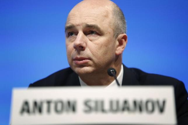 Russia's Finance Minister Anton Siluanov holds a news briefing after a G20 meeting at the start of the annual IMF-World Bank fall meetings in Washington, October 11, 2013 file photo. REUTERS/Jonathan Ernst