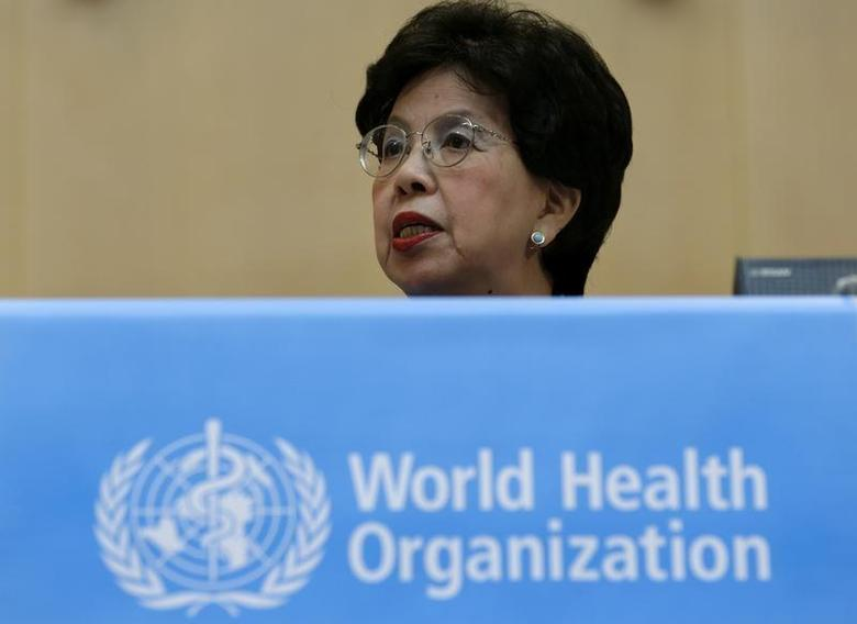 World Health Organisation WHO Director-General Margaret Chan addresses the 66th World Health Assembly at the United Nations European headquarters in Geneva May 20, 2013. REUTERS/Denis Balibouse