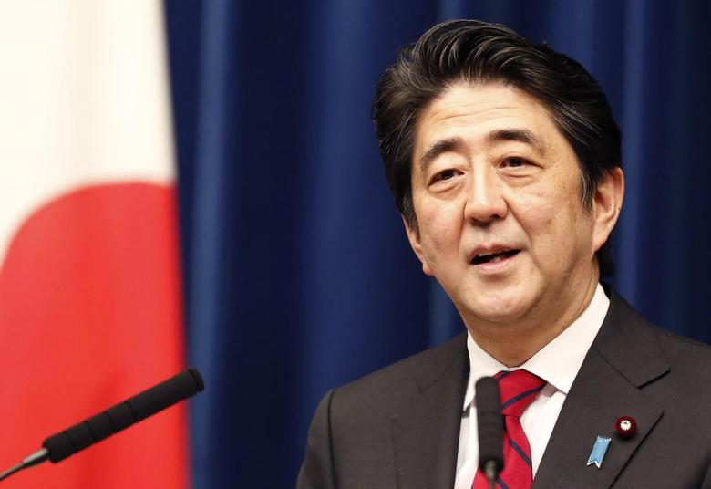 Japan's Prime Minister Shinzo Abe speaks during a news conference at his official residence in Tokyo March 20, 2014, after Japan's parliament enacts a budget for fiscal 2014. REUTERS/Yuya Shino