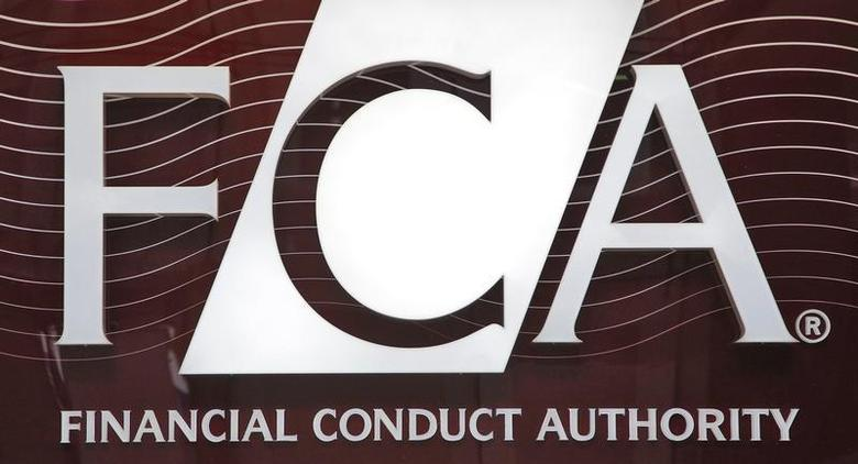 The logo of the new Financial Conduct Authority (FCA) is seen at the agency's headquarters in the Canary Wharf business district of London April 1, 2013. REUTERS/Chris Helgren