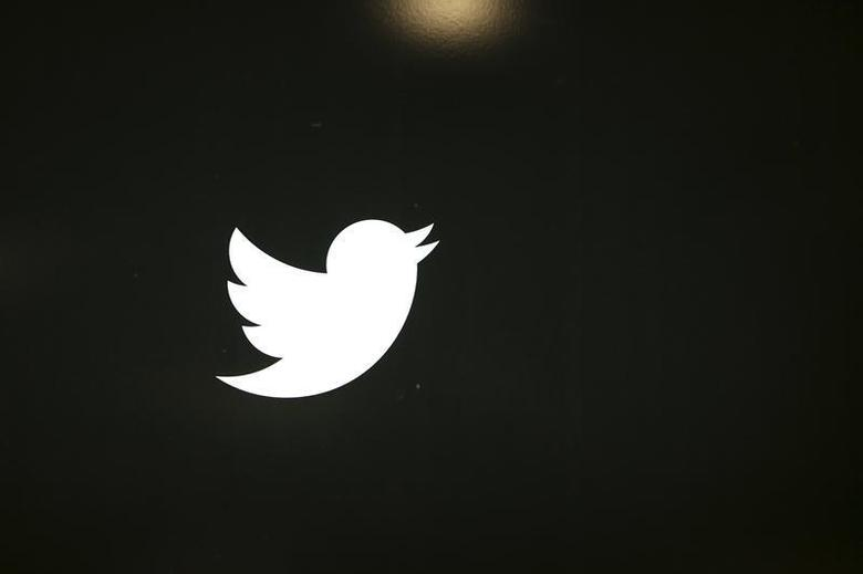 The Twitter logo is seen at the company's headquarters in San Francisco, California October 4, 2013. REUTERS/Robert Galbraith