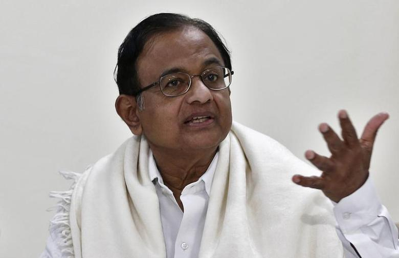 Finance Minister Palaniappan Chidambaram speaks during a joint news conference with Reserve Bank of India (RBI) Governor Raghuram Rajan (not pictured) in New Delhi March 7, 2014. REUTERS/Adnan Abidi
