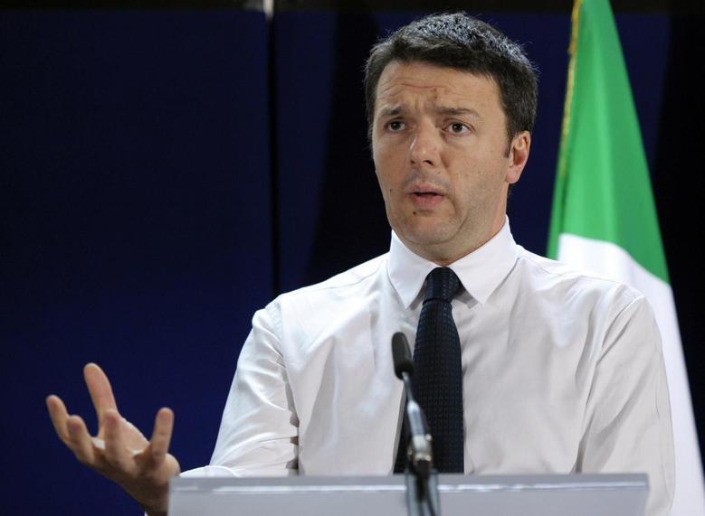 Italy's Prime Minister Matteo Renzi holds a news conference at an European Union leaders summit in Brussels March 21, 2014. REUTERS/Laurent Dubrule