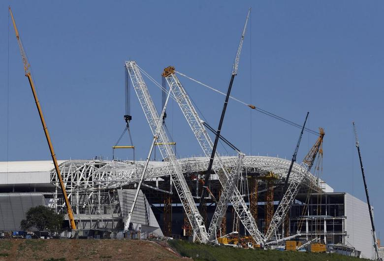 A general view of the Arena de Sao Paulo Stadium, one of the venues for the 2014 World Cup, in the Sao Paulo district of Itaquera March 15, 2014. REUTERS/Paulo Whitaker