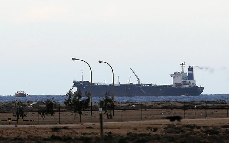 A North Korean-flagged tanker is docked at the Es Sider export terminal in Ras Lanuf March 8, 2014. REUTERS/Esam Omran Al-Fetori