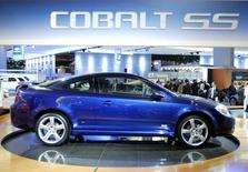 The 2005 Chevrolet Cobalt SS is displayed on the floor of the North American International Auto Show in Detroit Michigan, in this file photograph taken January 5, 2004. REUTERS/Gregory Shamus/Files
