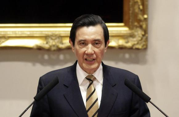 Taiwan's President Ma Ying-jeou speaks during a news conference about protesters' occupation of Taiwan's legislature, at the Presidential Office in Taipei March 23, 2014. REUTERS/Minshen Lin