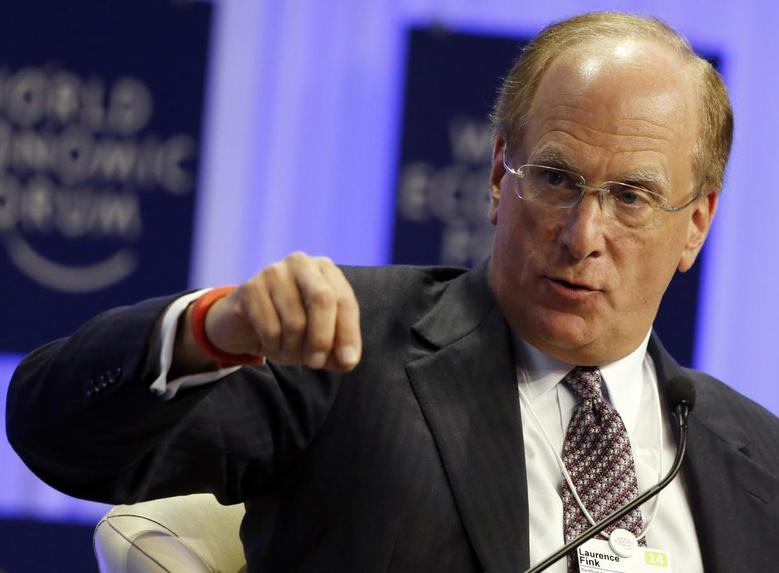 Chairman and Chief Executive of BlackRock Laurence Fink speaks during a session at the World Economic Forum (WEF) in Davos January 25, 2014. REUTERS/Ruben Sprich