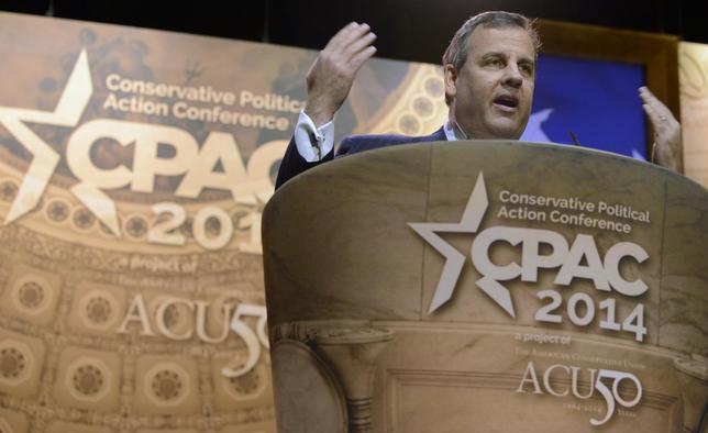 New Jersey Gov. Chris Christie makes remarks to the Conservative Political Action Conference (CPAC) in Oxon Hill, Maryland, March 6, 2014. REUTERS/Mike Theiler