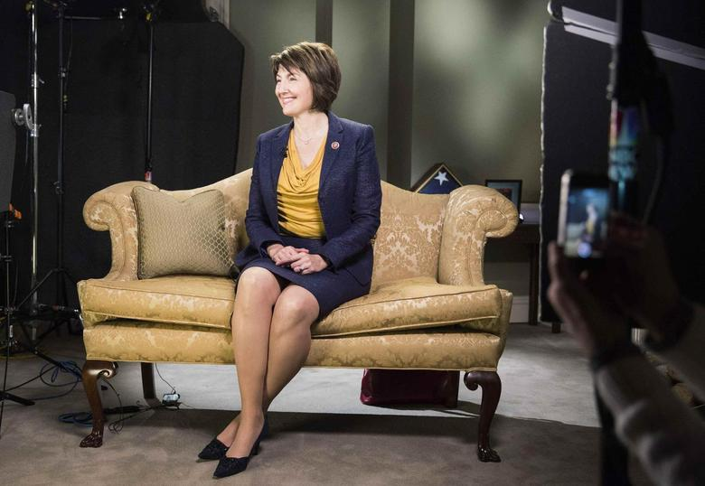 Representative Cathy McMorris Rodgers (R-WA) sits during a rehearsal of the Republican response to U.S. President Barack Obama's State of the Union address at the U.S. Capitol in Washington on January 28, 2014. REUTERS/Joshua Roberts