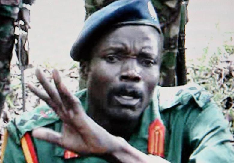 One of the world's most wanted rebel chiefs, Joseph Kony of the Lord's Resistance Army, is seen in this image taken from Reuters TV in Nairobi May 24, 2006. REUTERS/Reuters TV