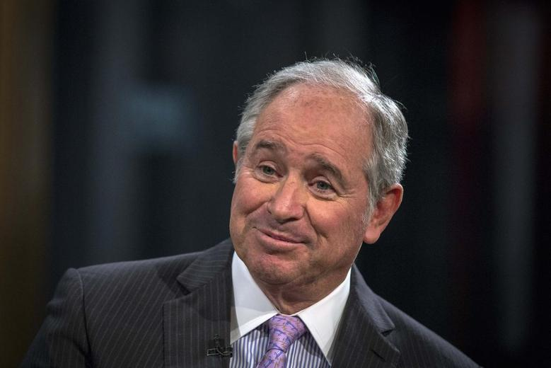 Stephen A. Schwarzman, Chairman and Chief Executive Officer of The Blackstone Group, looks on during an interview with Maria Bartiromo, on her Fox Business Network show; ''Opening Bell with Maria Bartiromo'' in New York February 27, 2014. REUTERS/Brendan McDermid