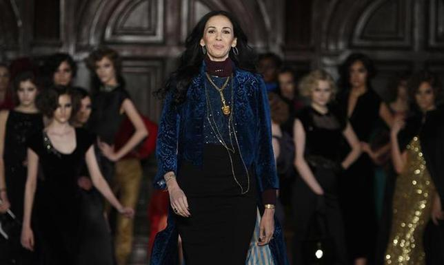 Designer L'Wren Scott is seen following her Fall/Winter 2012 collection during New York Fashion Week February 16, 2012. REUTERS/Carlo Allegri/Files
