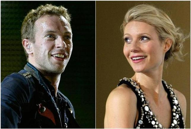 Combo picture of singer Chris Martin of Coldplay performing during a concert as part of their ''Viva La Vida'' tour in Barcelona September 4, 2009 and actress Gwyneth Paltrow posing during the premiere of her film ''Iron Man'' in Berlin April 22, 2008. REUTERS/Gustau Nacarino/Johannes Eisele/Files