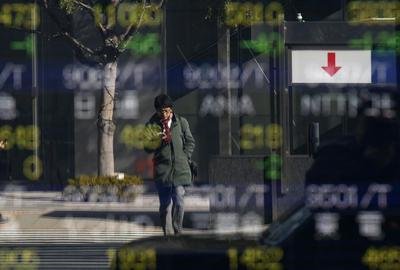 Asia shares edge up as upbeat data brighten U.S....