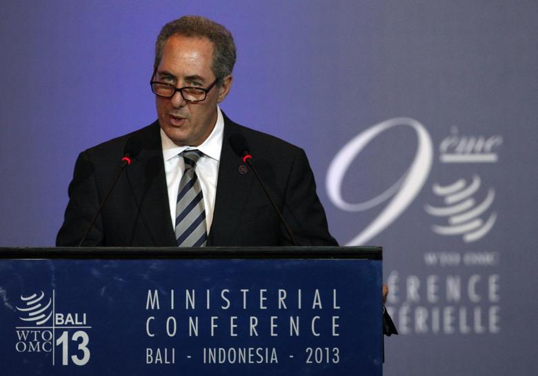 U.S. Trade Representative Michael Froman speaks during a plenary session of the ninth World Trade Organization (WTO) Ministerial Conference in Nusa Dua, on the Indonesian resort island of Bali December 4, 2013. REUTERS/Edgar Su