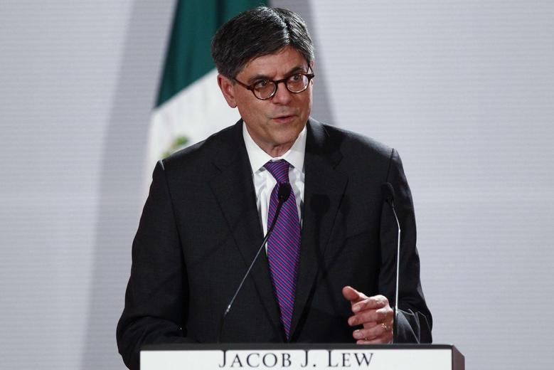 U.S. Treasury Secretary Jack Lew speaks during a news conference with Mexico's Finance Minister Luis Videgaray (not pictured) in Mexico City March 18, 2014. REUTERS/Edgard Garrido