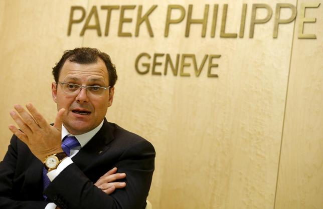 Patek Philippe Chairman Thierry Stern gestures as he speaks during a Reuters interview at Baselworld fair in Basel March 26, 2014. REUTERS/Arnd Wiegmann