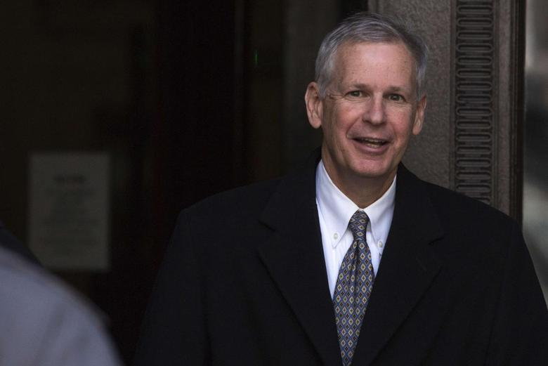 Dish Network Corp Chairman Charles Ergen exits the US Bankruptcy court in New York March 26, 2014. REUTERS/Andrew Kelly