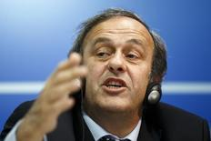 UEFA President Michel Platini attends a news conference after the first UEFA Executive Committee reunion of the year, at the UEFA headquarters in Nyon January 25, 2013. REUTERS/Valentin Flauraud