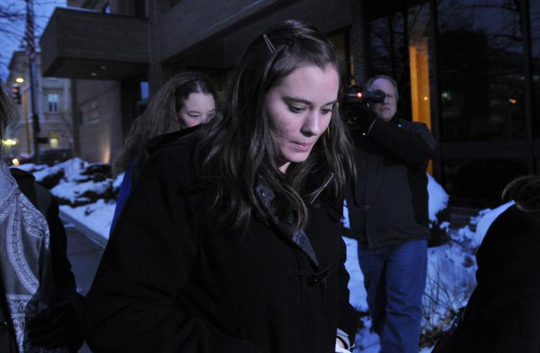 Jordan Graham leaves U.S. District court in Missoula, Montana on December 11, 2013. REUTERS/Arthur Mouratidis