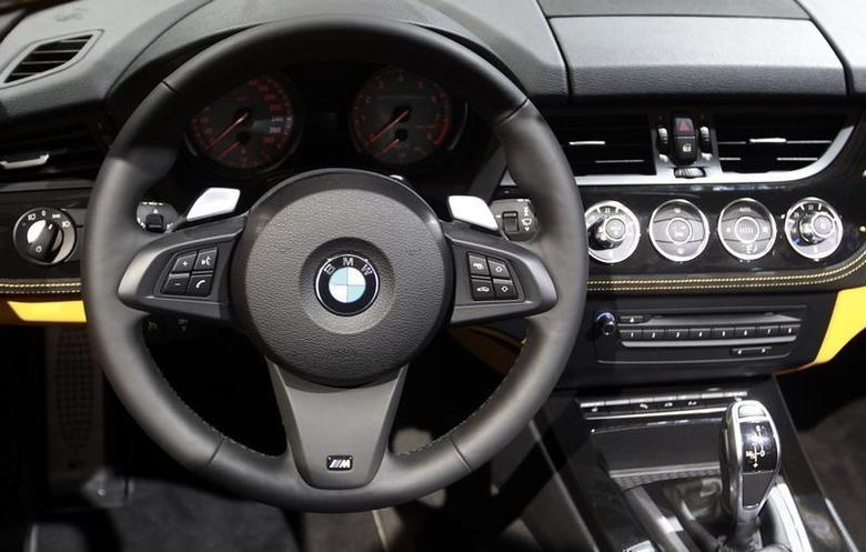 The dashboard of a BMW Z4 sDrive35is car is displayed on media day at the Paris Mondial de l'Automobile October 1, 2010. REUTERS/Jacky Naegelen