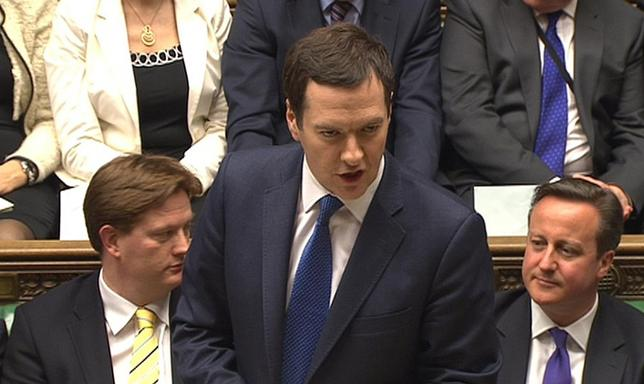 A still image taken from video shows Britain's Chancellor of the Exchequer George Osborne, presenting his Budget to the House of Commons, in central London March 19, 2014. REUTERS/UK Parliament via REUTERS TV