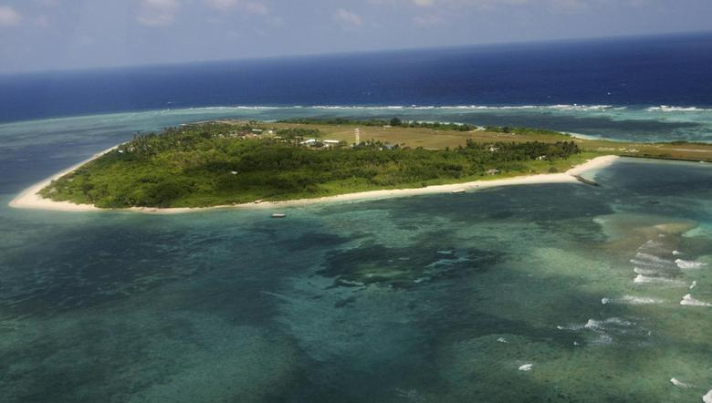 The Pagasa (Hope) Island, part of the disputed Spratly group of islands, in the South China Sea located off the coast of western Philippines is seen in this July 20, 2011 file photo. REUTERS/Rolex Dela Pena