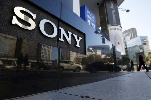 A logo of Sony Corp is seen outside its showroom in Tokyo February 5, 2014. REUTERS/Yuya Shino