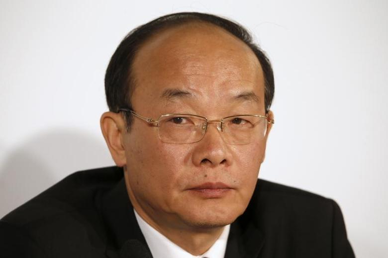 Xu Ping, Chairman of Dongfeng Motor Group Company attends a news conference in Paris, March 26, 2014. REUTERS/Charles Platiau