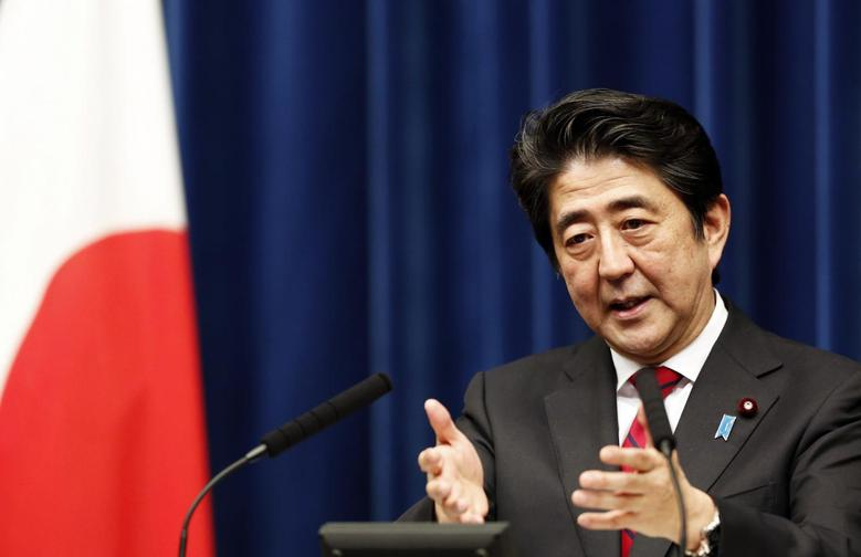 Japan's Prime Minister Shinzo Abe speaks during a news conference at his official residence in Tokyo March 20, 2014, after Japan's parliament enacted a budget for fiscal 2014. REUTERS/Yuya Shino