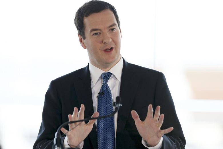 Britain's Chancellor of the Exchequer George Osborne delivers a speech on the forthcoming Scottish independence referendum in Edinburgh in Scotland February 13, 2014. REUTERS/Scott Heppell/Pool