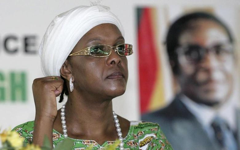 Zimbabwe President Robert Mugabe's wife Grace Mugabe attends a meeting of the ZANU-PF party in Mutare 275km east of the capital Harare, December 17, 2010. REUTERS/Philimon Bulawayo