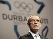 Former Olympian Jean-Claude Killy speaks during the Annecy bid city presentation to the 123rd International Olympic Committee (IOC) session in Durban, July 6, 2011. REUTERS/Rogan Ward