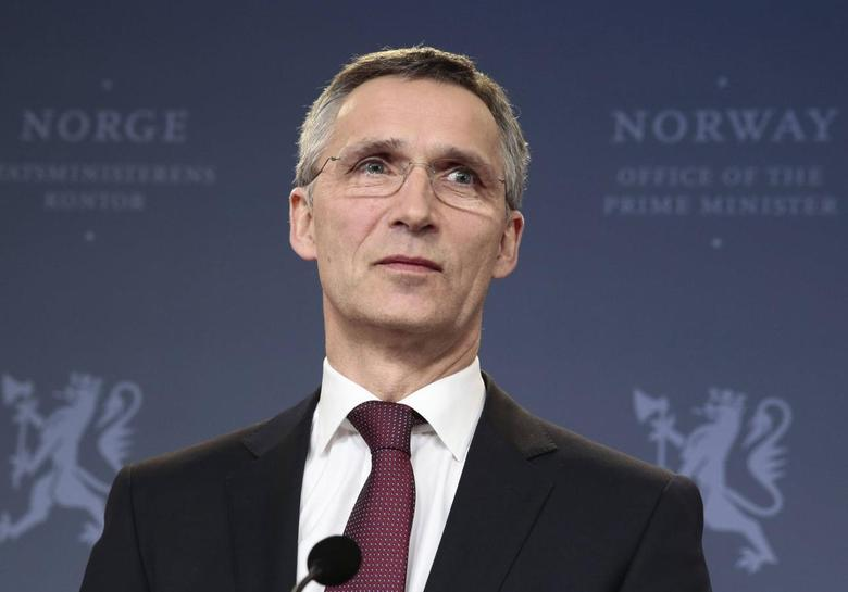 Former Norwegian prime minister Jens Stoltenberg pauses during an address to the media in Oslo, after NATO ambassadors chose him to be the next head, March 28, 2014. REUTERS/Hakon Mosvold Larsen