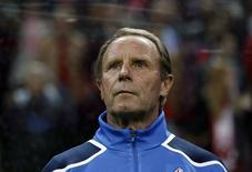 Azerbaijan's coach Berti Vogts is seen before their Euro 2012 qualifying Group A match against Turkey at Turk Telekom Arena in Istanbul October 11, 2011. REUTERS/Murad Sezer