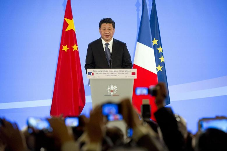 Chinese President Xi Jinping delivers a speech to mark fifty years of diplomatic relations between France and China at the French Foreign Ministry in Paris March 27, 2014. REUTERS/Alain Jocard/Pool