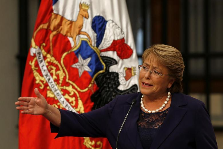 Chile's President Michelle Bachelet answers a question during a news conference at the La Moneda Presidential Palace in Santiago, March 12, 2014. REUTERS/Ivan Alvarado