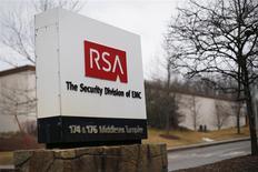 La planta de RAS en Bedford, EEUU, mar 28 2014. La empresa pionera de seguridad RSA adoptó no sólo una sino dos herramientas de encriptación desarrolladas por la Agencia Nacional de Seguridad, aumentando la capacidad de espionaje de la agencia estadounidense para rastrear algunas comunicaciones de Internet, según un equipo de investigadores académicos. REUTERS/Brian Snyder